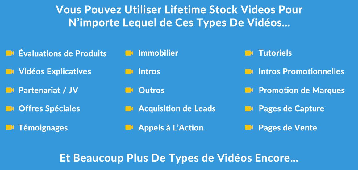 lifetime stock video en français